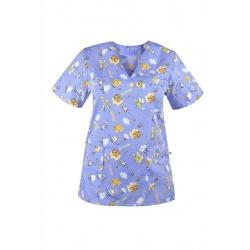 Bluza medyczna W20 w dziecięce wzorki