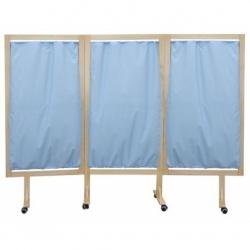 Parawan drewniany PB 3-częściowy na kółkach