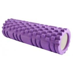 Roller joga - wałek do masażu powięzi 31,5x10 cm fioletowy