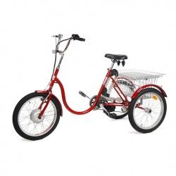 Rower trójkołowy średni 20 cali elektryczny 3-biegowy