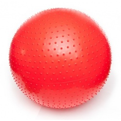 PIŁKA SENSORYCZNA Z WYPUSTKAMI THERASENSORY GYMNIC 100 cm czerwona