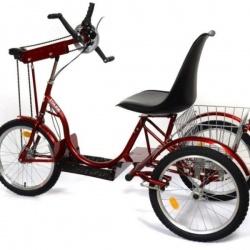 Rower trójkołowy średni 20 cali bez przerzutki – napęd ręczny i dodatkowe wspomaganie elektryczne